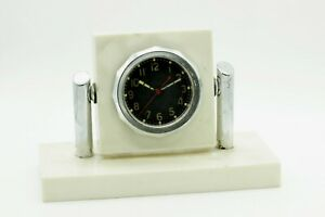Vintage Mechanical Clock ChChZ Tank T-34 USSR 1950s Table Closk Military Watch