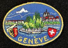 GENEVE Souvenir Travel Hiking Patch SWITZERLAND SWISS Tourist Ski Skiing
