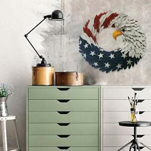 Americana Patriotic American Eagle Flag Curl Wreath New X6V8 DECORATION