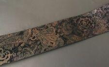 "Olga Santini Fashion Belt Genuine Leather Velvet Texture Floral Paisley 39"""