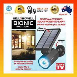 Bionic SPOTLIGHT*AS SEEN ON TV*Solar Cordless LED Light*Motion Sensor*Sun Panel