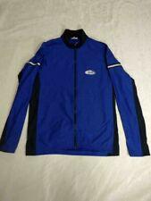Men's Loffler Active Sport Blue Reflective Pocket Cycling Sleeve Jersey