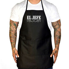 Men's Cartel Ink El Jefe Apron Black Grilling BBQ Barbecue