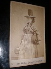 Cdv old photograph Wales The Welsh Farmer's Daughter no 749 wash tub c1860s