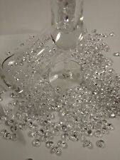 200 Pc Clear Acrylic Diamond Confetti Table Scatter 8 mm