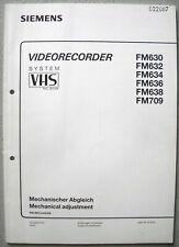 Siemens FM 630 632 634 636 638 709 Mechanischer Abgleich