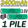 1 PILE ACCU LITHIUM 3.6V AA ER14505 LS14500 ER14505H Li-socl2 2400Mah BATTERY