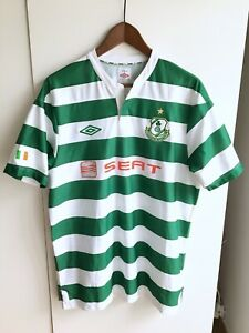 SHAMROCK ROVERS FC Football Shirt IRELAND Irish seat Jersey UMBRO size L / Large