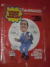 CORRIERE DEI RAGAZZI- formato giornale- n° 30 -del 1973- ALBERTO SORDI