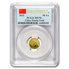 2012 China 1/10 oz Gold Panda MS-70 PCGS (First Strike) - SKU #69713