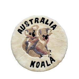 Vintage Australia Sheepskin Koala Mini Rug Matt