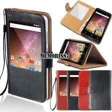 Per vari smartphone ARCHOS-Finestra Vista Flip Cover Stand Portafoglio in Pelle Case