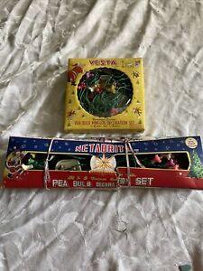 2 BOXES VINTAGE SCREW IN BULB CHRISTMAS DECORATION FAIRY LIGHTS VESTA & NETBRITE