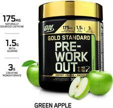 Optimum Nutrition ON Gold Standard Pre Workout Amino BCAA Green Apple Creatine