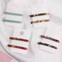 Womens Acrylic Hair Clip Barrette Stick Hairpin Bobby Accessories Pin Girls Hair
