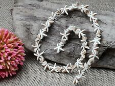Strang Seestern Starfish Beige Howlith Edel Stein Perlen 39 Stck 15 mm DIY