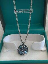 Effy Oval Sapphire And Blue Topaz  925 Sterling Silver Pendant 4.39 TCW Gift 995