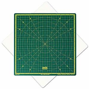 ANSIO Rotating Self Healing Cutting Mat for Sewing, Craft -Imperial 13 x 13 Inch