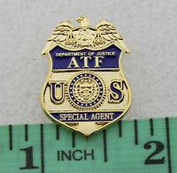 US DOJ ATF Special Agent Mini Badge Lapel Pin Federal DOJ Justice Police Pin
