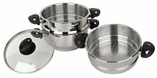 Stainless Steel Collection Pendeford Vaporiera in acciaio inox 3 piani