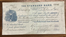 More details for the standard bank of south africa ltd ~ 1905 pictorial cheque.