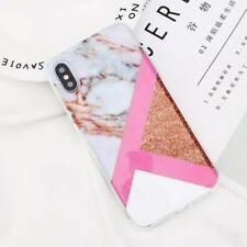 For iPhone XS Max Xr X 8 7 6s Plus SE Granite Marble Glossy Soft TPU Case Cover