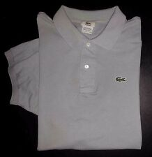 Lacoste Shirt Golf Polo Sz 7 (L) Solid Light Blue SOFT S/S Casual Shirt s3287