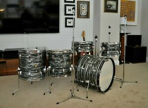 Ludwig Oyster Black Pearl Downbeat RINGO KIT 12/JF/14/16/20 ~ SHOWROOM CONDITION
