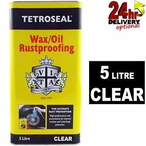 Tetroseal WaxOil Clear 5L Car Rust Proofing Rustproof Wax/Oil Protection