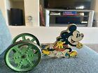 1930s RARE WALT DISNEY Mickey Mouse Pull Toy by N N Hill Brass Co. Hampton CT