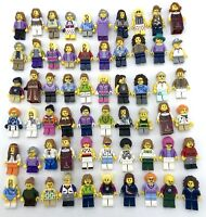LEGO 10 NEW FEMALE GIRL MINIFIGURES TOWN CITY SERIES FRIENDS FIGURES