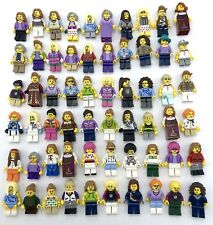 LEGO 50 NEW FEMALE GIRL MINIFIGURES TOWN CITY SERIES FRIENDS GRAB BAG FIGURES