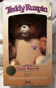 Vintage 1985 Teddy Ruxpin Talking Bear New In Box