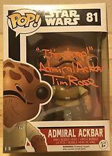 TIM ROSE SIGNED ADMIRAL ACKBAR STAR WARS FUNKO POP! VYNIL JSA WITNESS