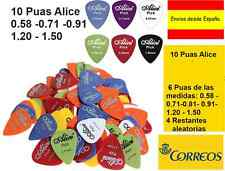 10 Puas de Guitarra Alice :0.58 0.71 0.81 0.96 1.20 1.50 mm