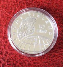 Finlande - Magnifique  10 €  Argent 2002 Proof - 50 Ans Jeux Olympiques 1952
