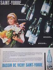 PUBLICITÉ 1962 BASSIN DE VICHY SAINT-YORRE GAZ NATUREL - ADVERTISING