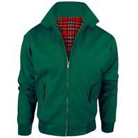 Harrington Jacket With Tartan Lining British Made Mens Zip Up Classic Bomber S