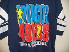 VINTAGE 1999 DENVER BRONCOS VS SAN FRANCISCO 49ers SUPER BOWL XXIV JERSEY SHIRT