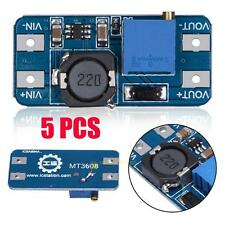 5Pcs MT3608 2A DC-DC Step Up adjust Power Apply Booster Power Module for Arduino