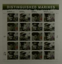 US SCOTT 3961 - 3964a PANE OF 20 DISTINGUISHED MARINES 37 CENT FACE MNH