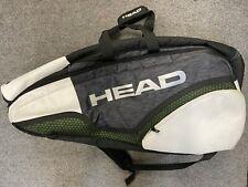 Head Novak Djokovic Monstercombi 12 Pack Bag (Backpack Large Tennis White Black)