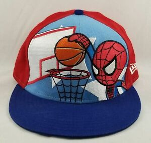 Tokidoki New Era 59Fifty Spider-man Playing Basketball Cap Hat 7 1/8 Fitted