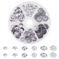 1 Box 304 Stainless Steel Flower Bead Caps for Jewelry Beading Making 80x20mm