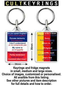 Language Phrase keyring - English to French, German, Italian & Spanish translate