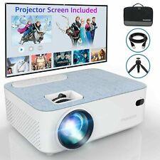 Mini Bluetooth Projector 4500 Lumens,1080P Full HD, 50000hrs Lamp Life