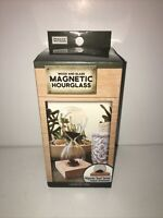 Premier Finds Magnetic Hour Glass Timer WOOD & GLASS Desktop  NEW IN BOX