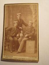Leipzig - H. Berthold - M. Diesing - G. Zimmer als Studenten im WS 1883/84 / CDV