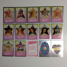 BARBIE DOLL (MATTEL) SILVER FOIL STICKER CARD SET by PANINI from 1992 PT1-PT15