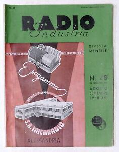 Rivista mensile di Radiotecnica - Radio Industria N. 48 - Agosto-Settembre 1938